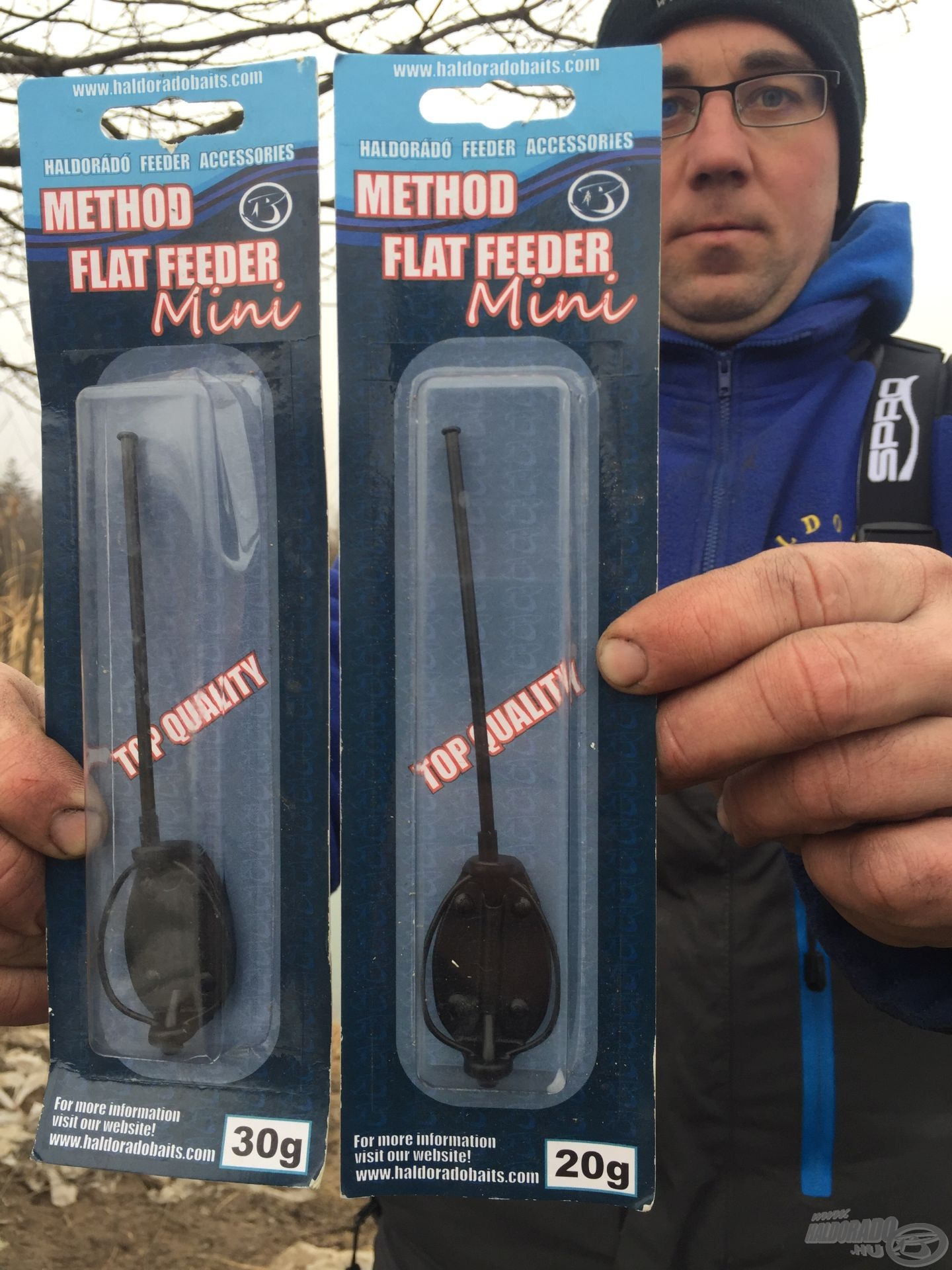 A Haldorádó Method Flat Feeder Mini 20 g-os és 30 g-os változata