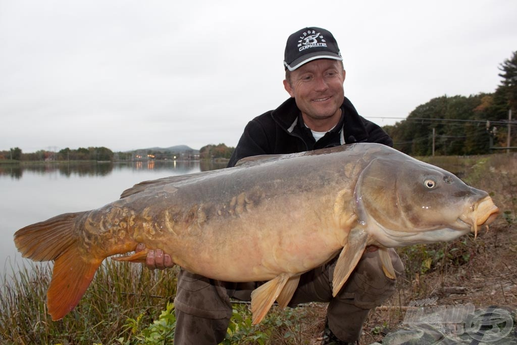 A túra legnagyobb hala: 18,78 kilós ponty