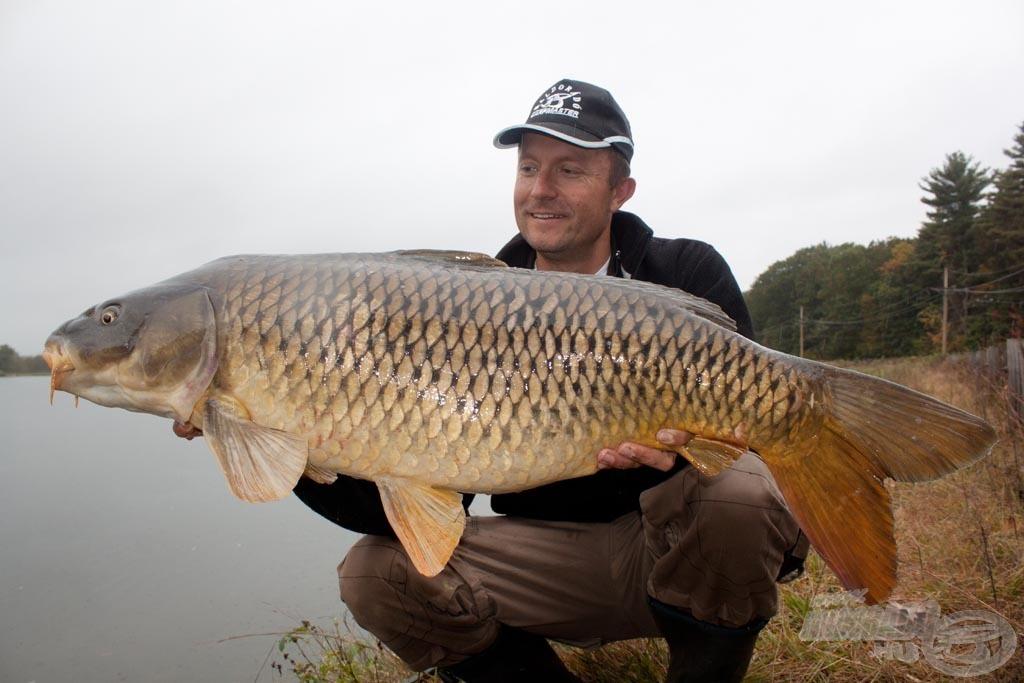 A nap végéig ez a csodás 14,58 kilós nyurgaponty volt a legnagyobb halam…