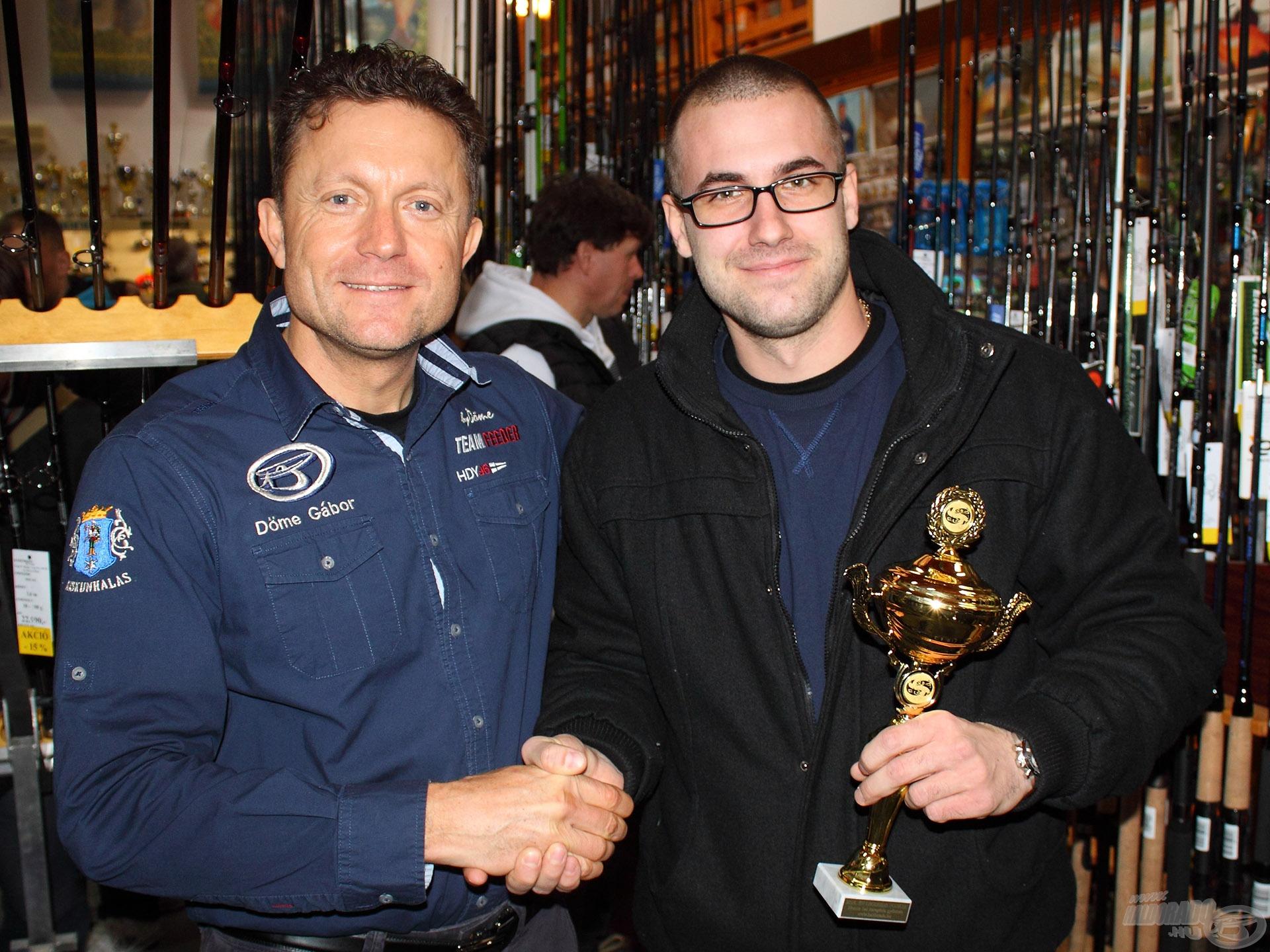 Valent Patrik kapta meg a 2016-os év fogása díjat nemes hal kategóriában