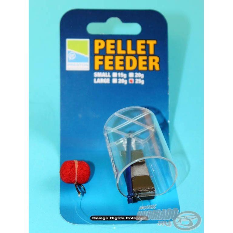 PRESTON Pellet Feederkosár L 25 g